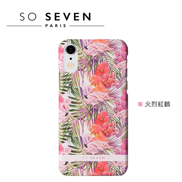 SO SEVEN iPhone X 法國巴黎<BR>里約花卉系列手機保護殼 4