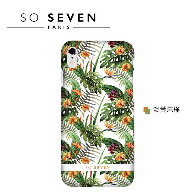 SO SEVEN iPhone X 法國巴黎<BR>里約花卉系列手機保護殼 5