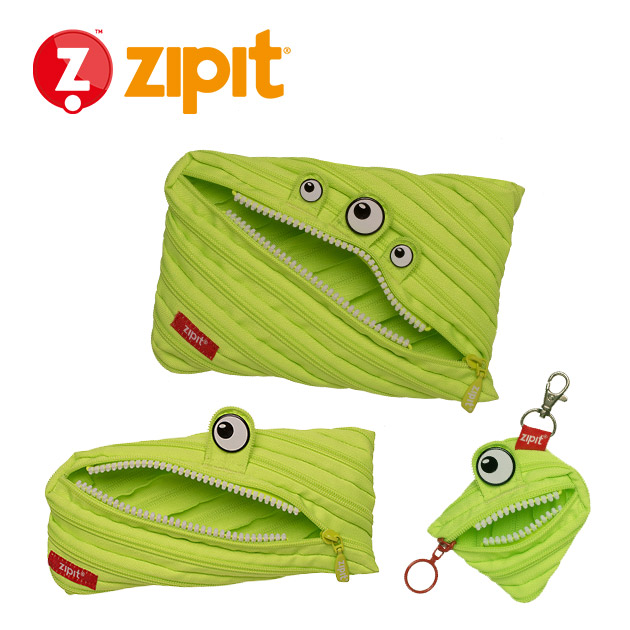ZIPIT 怪獸拉鍊包<BR>★斑斑綠★系列 1