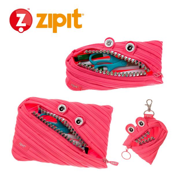 ZIPIT 怪獸拉鍊包<BR>★娃娃粉★鋼牙系列 1