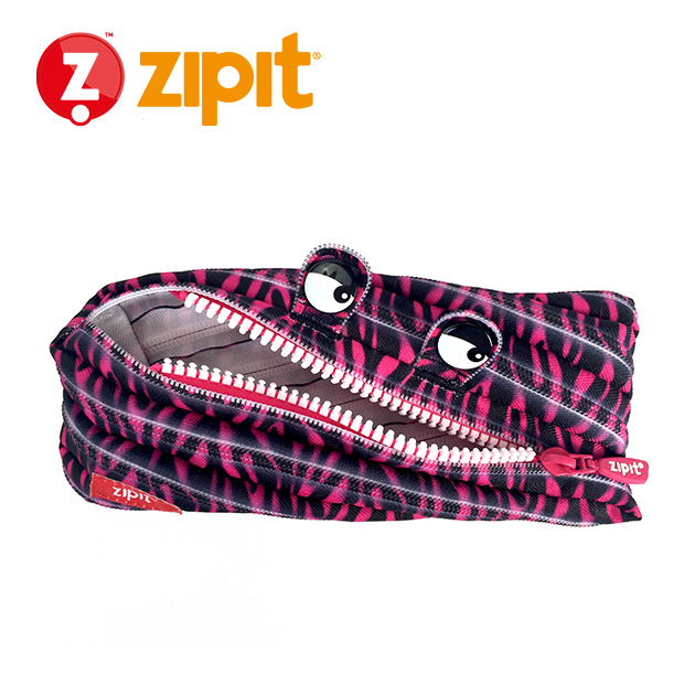 ZIPIT 怪獸拉鍊包<BR>★斑馬粉★系列 3