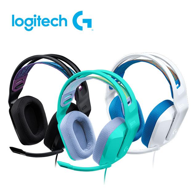 羅技 G335 輕盈電競耳機麥克風 1