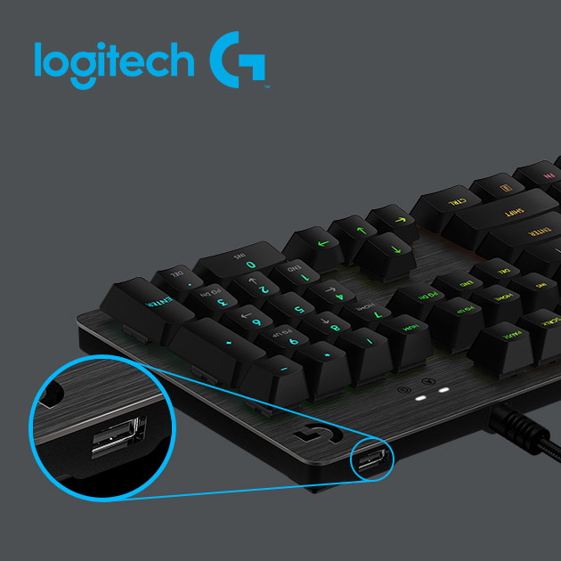 羅技 G512 RGB 機械式遊戲鍵盤<BR>(Clicky青軸) 3
