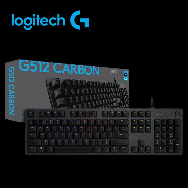 羅技 G512 RGB 機械式遊戲鍵盤<BR>(Clicky青軸) 4