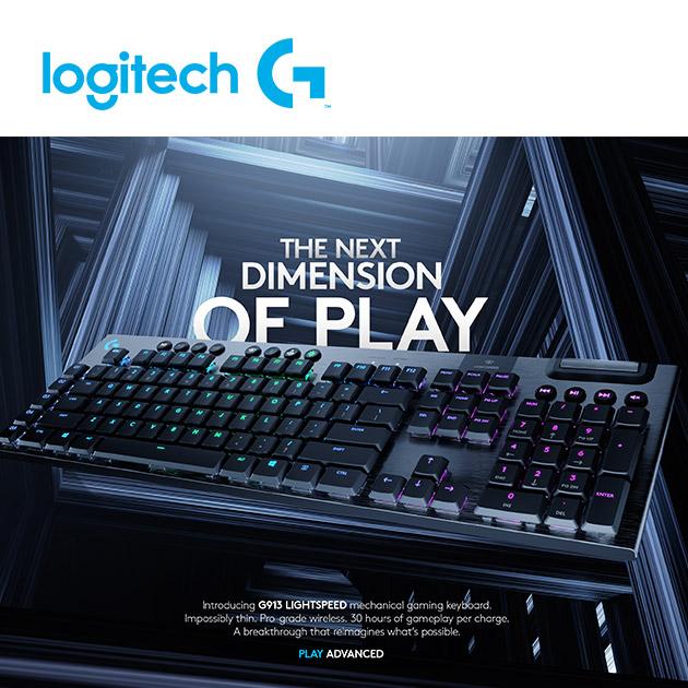 羅技 G913 RGB 無線遊戲鍵盤<BR>觸感軸/線性軸 3