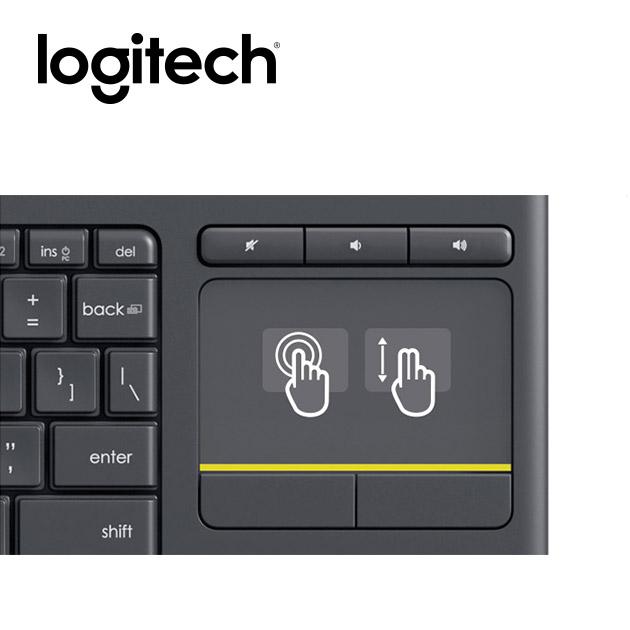 羅技 K400 Plus 無線觸控板鍵盤 5