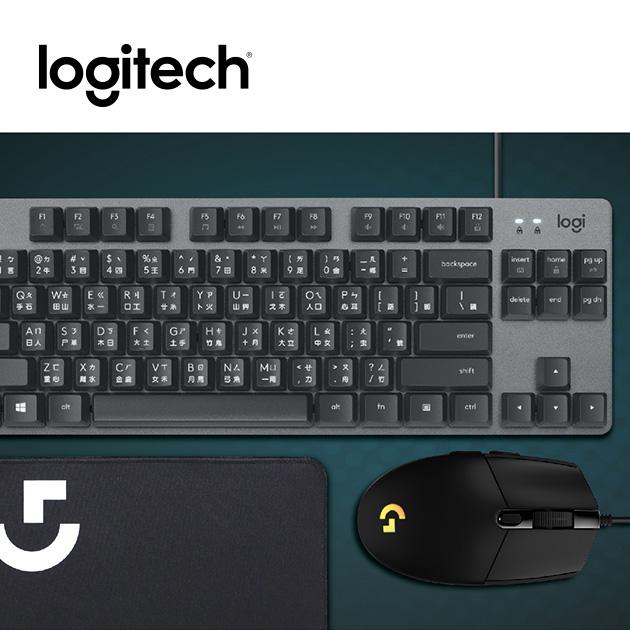 羅技 超值辦公遊戲鍵鼠組<BR><font color=#00ace8>K835機械鍵盤+G102炫彩滑鼠+布質鼠墊 1