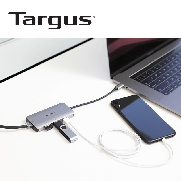 泰格斯 ACA959AP USB-C 網路端口 HUB<BR>多功能轉換器 4