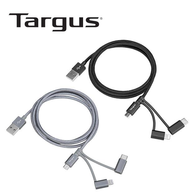 泰格斯 ACC1011 鋁製<br>Lightning1.2M 3in1傳輸線 1