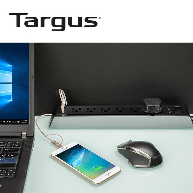 泰格斯 APS14 防突波6孔延長線+2port USB (200cm) 2