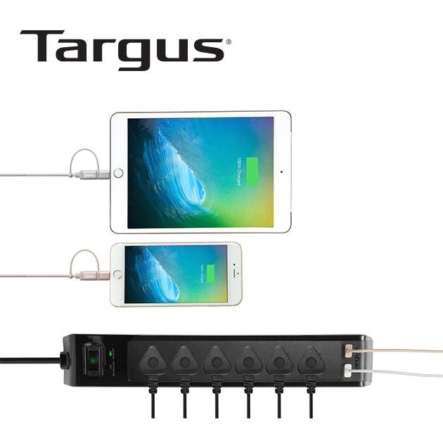 泰格斯 APS14 防突波6孔延長線+2port USB (200cm) 5